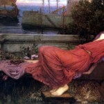 Painting by John William Waterhouse of Ariadne