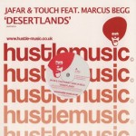 Label art for Jafar & Touch release on Hustle Music with Marcus Begg
