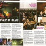 DJ magazine article on Poetiquette tour of Poland